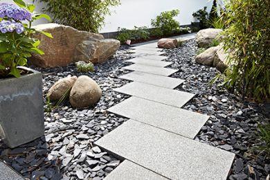 Steine Im Garten schade + sohn - stein im garten - baustoffe für haus & garten